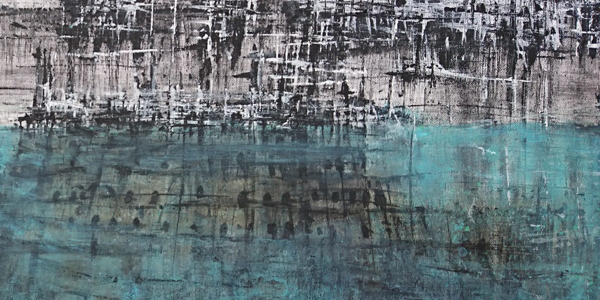 acryique sur toile, 40x80cm